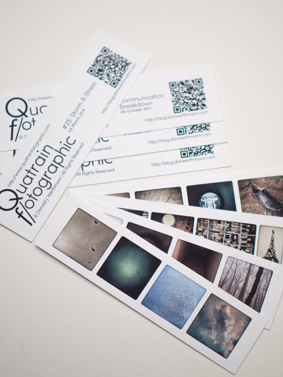 Quatrain Paper Bookmarks